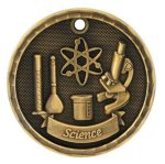 3D Science Medal 3D Medals