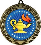 Colorful Lamp of Knowledge Medal Academic Medals