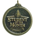 Value Student Of The Month Medal Academic Medals