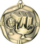Ribbon Lamp of Knowledge Medal Academic Medals