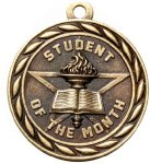 Scholastic Student Of The Month Medal Academic Medals
