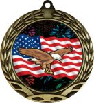 Colorful Eagle Insert Medal Colorful Insert Medals