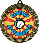 Colorful Perfect Attendance Medal Colorful Insert Medals