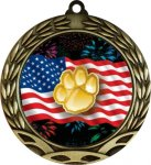 Colorful Paw Insert Medal Colorful Insert Medals