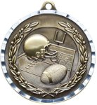 Diamond Cut Football Medal Football Medals