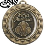 Spinner Perfect Attendance Medal Perfect Attendance Medals