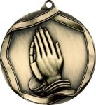 Ribbon Praying Hands Medal Ribbon Medals