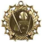 Ten Star Baseball Medal Softball Medals