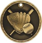 3D Baseball Medal Softball Medals