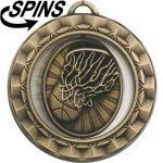 Spinner Basketball Medal Spinner Medals