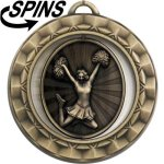 Spinner Cheerleader Medal Spinner Medals