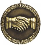 Wreath Teamwork Medal Sportsmanship Medals