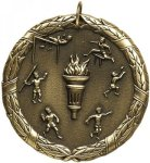 Wreath Track and Field Medal Track Medals