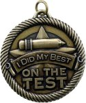 Value Did My Best On Test Medal Value Medals