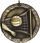 Wreath Volleyball Medal Volleyball Medals
